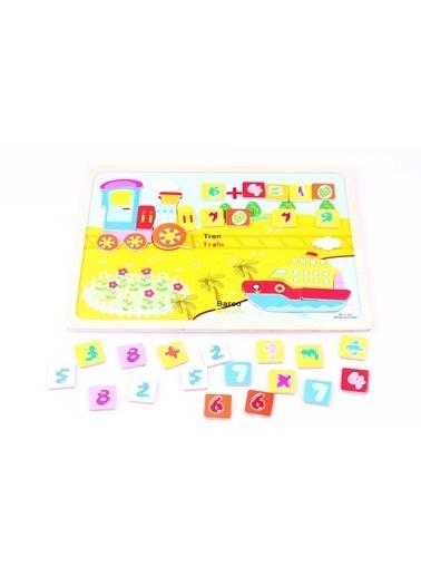 Learning Toys Ahşap Sayısal Mıknatıslı Yapboz Seti Renkli